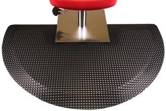 Rhino Mats Reflex Beauty Salon Semi-Circle Black Mat with Square Cut Out