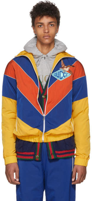 Gucci Yellow and Blue Technical Jacket