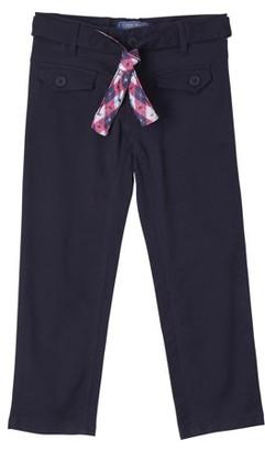 Cherokee Girls 7-16 School Uniform Belted Stretch Twill Pants
