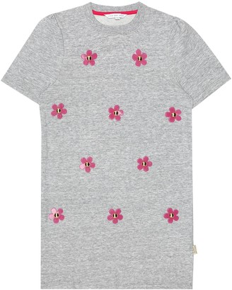 Little Marc Jacobs Daisy cotton sweatshirt dress