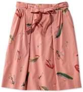 L.L. Bean L.L.Bean Signature Poplin Skirt, Print
