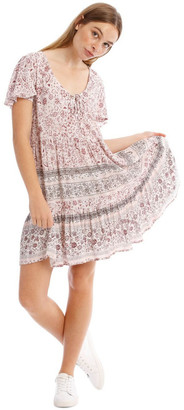 Miss Shop Tiered Hem Short Sleeve Dress