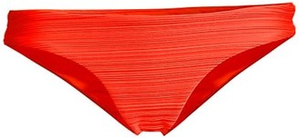 Mara Hoffman Kay Ruched Low-Rise Bikini Bottoms