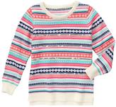 Gymboree Pink & Cream Fair Isle Crewneck Sweater - Girls