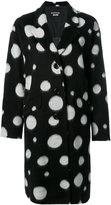 Moschino oversized spotted coat - women - Acrylic/Acetate/Viscose - 40