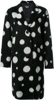 Moschino oversized spotted coat - women - Acrylic/Acetate/Viscose - 42