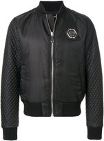 Philipp Plein quilted sleeve bomber jacket