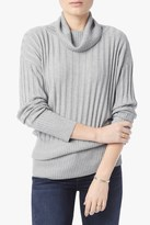 7 For All Mankind Oversize Cashmere Blend Sweater In Light Heather Grey