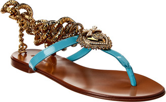 Dolce & Gabbana Devotion Leather Sandal