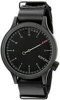 Komono Unisex KOM-W1904 Magnus The One Analog Display Japanese Quartz Black Watch