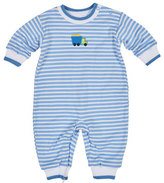 Florence Eiseman Tipped Striped Jersey Coverall, Blue, Size 3-18 Months