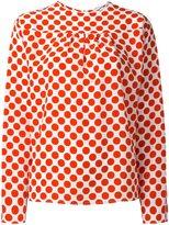 MSGM polka dots print blouse