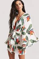 Forever 21 Tropical Floral Swim Cover-Up