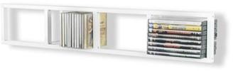 Latitude Run Multimedia Wall Mounted Media Storage Color: White