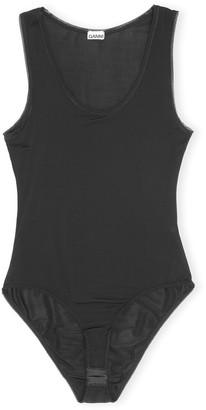 Ganni Rayon Bodysuit in Black