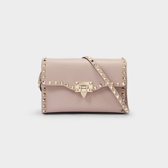 Valentino Shoulder Bag Rockstud Small In Pink Leather