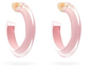 Alison Lou Jelly Small Neon 14kt Gold-plated Hoop Earrings - Womens - Pink