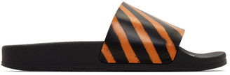 Off-White Black and Orange Spray Pool Slides
