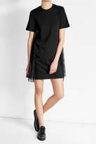 McQ by Alexander McQueen Cotton T-Shirt Dress with Lace Inserts