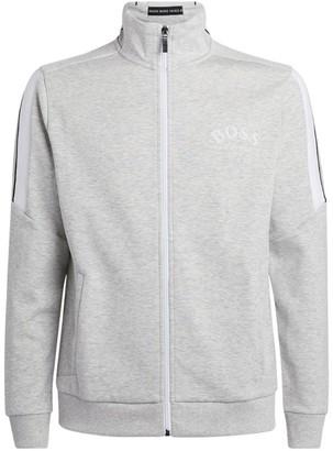 HUGO BOSS Logo Panelled Zip-Up Jacket