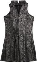 Zoey Girl's Sparkle Knit Cutout Dress, Size 7-16