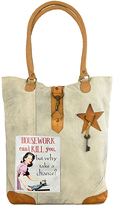 Vintage Addiction Tan 'Housework Can't Kill You But Why Take a Chance' Canvas Tote