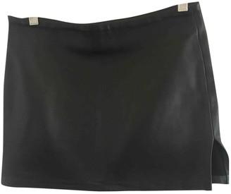 Joseph Black Leather Skirt for Women