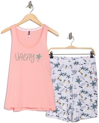 Izod Vacay Tank Top & Bermuda Shorts 2-Piece Pajama Set