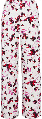 Diane von Furstenberg Erica Printed Stretch-cady Wide-leg Pants