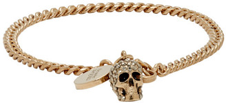 Alexander McQueen Gold Skull Bracelet