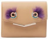 Fendi Leather & Mink Fur Short Wallet