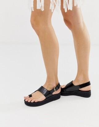 Asos Design DESIGN Judie toe loop espadrille sandals-Black