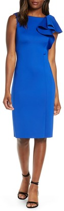 Brinker & Eliza Sleeveless Shift With One Shou