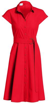 Akris Punto Belted Mini Poplin Dress