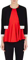 Lisa Perry Women's Colorblocked Crop Cardigan-BLACK