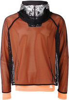 adidas layered fishnet sports top