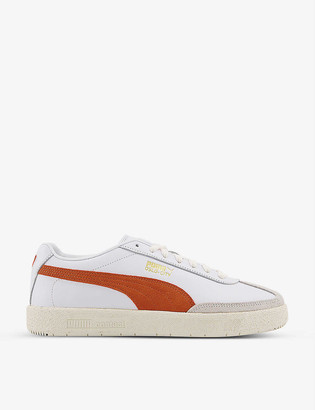 Puma Oslo-City leather low-top trainers