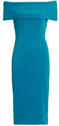 Catherine Regehr Off-The-Shoulder Sheath Dress