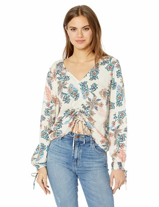 Jessica Simpson Women's Kinsley Gathered Front Blouse