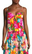 Milly Floral Silk-Blend Bustier