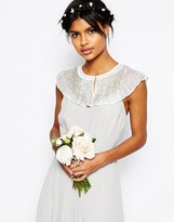 Asos WEDDING Pretty Fringe Bead Embellished Cape