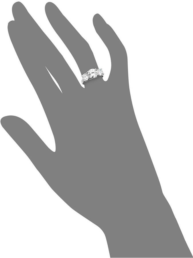 Crislu Ring, Platinum Over Sterling Silver Three Stone Cubic Zirconia Ring (4 ct. t.w.)