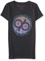 Aeropostale Womens Vintage Triathlon Graphic T Shirt Black
