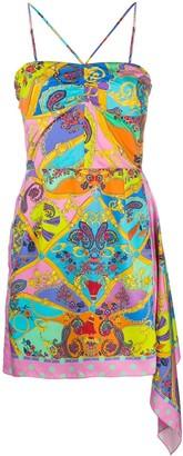 Versace Graphic-Print Mini Dress