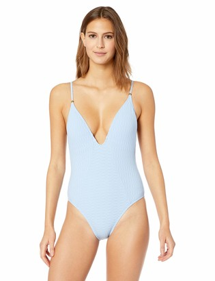 Lucky Brand Women's Plunge Front One Piece Swimsuit