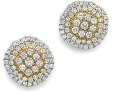 Bloomingdale's White Diamond and Yellow Diamond Stud Earrings in 14K White Gold