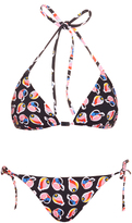 Fendi Idea-print halterneck bikini
