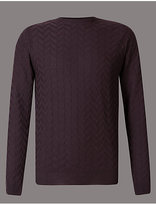 Autograph Pure Merino Wool Textured Slim Fit Jumper