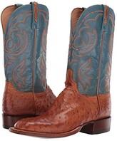 Lucchese Harris (Antique Brandy Full Quill Ostrich) Men's Boots