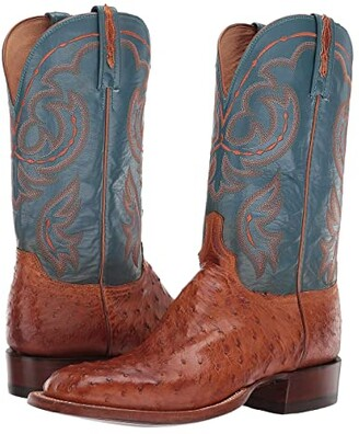 Lucchese Harris (Antique Brandy Full Quill Ostrich) Men's Boots